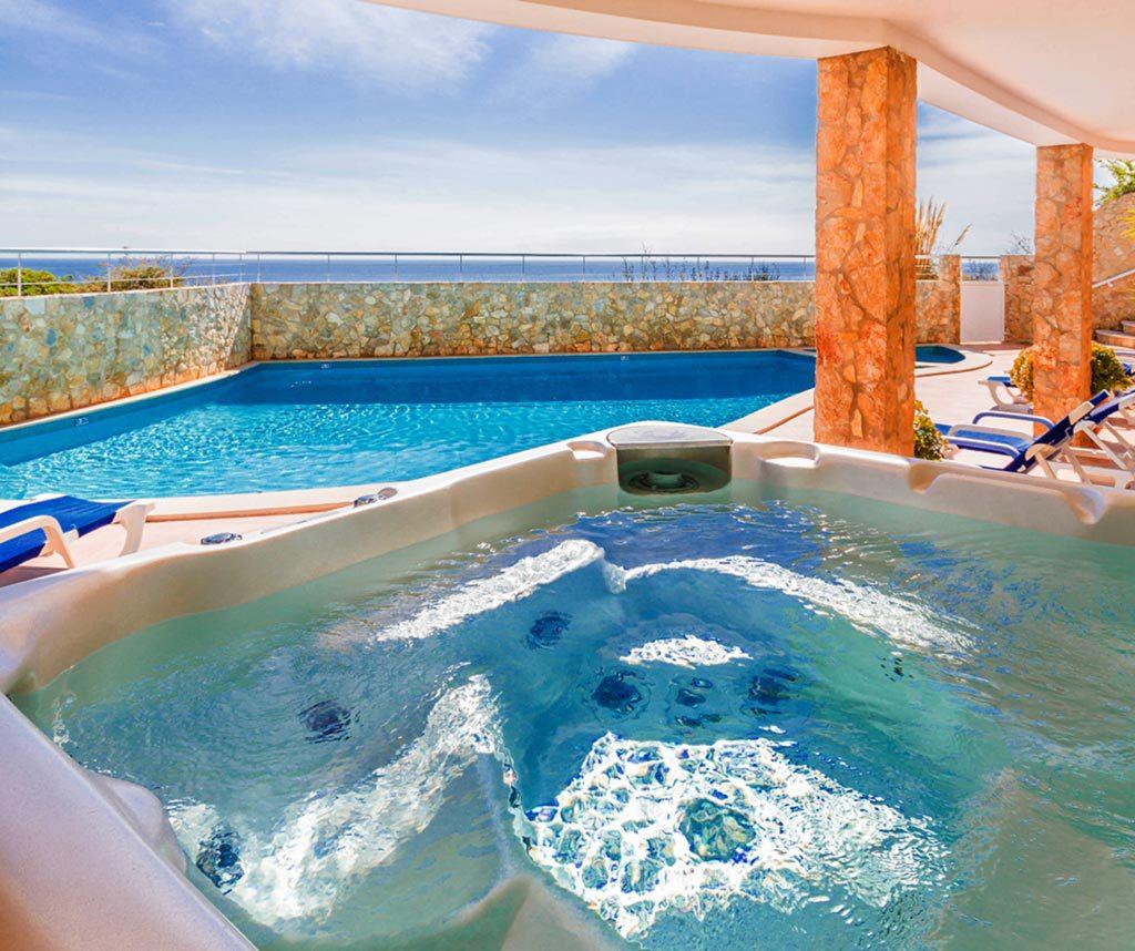 jacuzzi villa with sea - photo #14